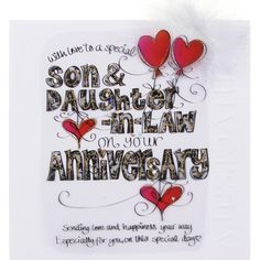 happy anniversary quotes to son and daughter in law
