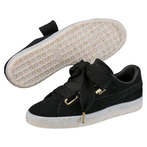 Image 1 of Suede Heart Celebrate Women s Trainers in Puma Black-Puma Black a63788ca5