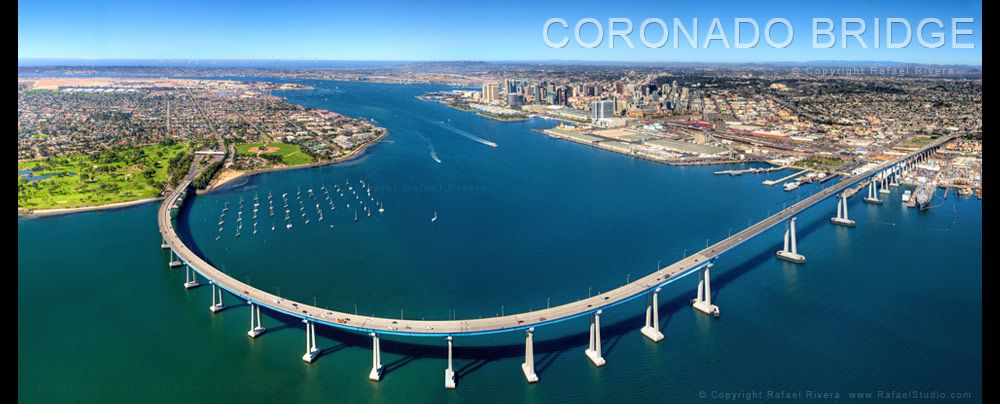 Coronado Bridge Get A Picture Perfect View Of San Diego S Skyline And Harbor If You Re Not Afraid Of Heights San Diego Skyline Coronado Bridge Scenic Drive