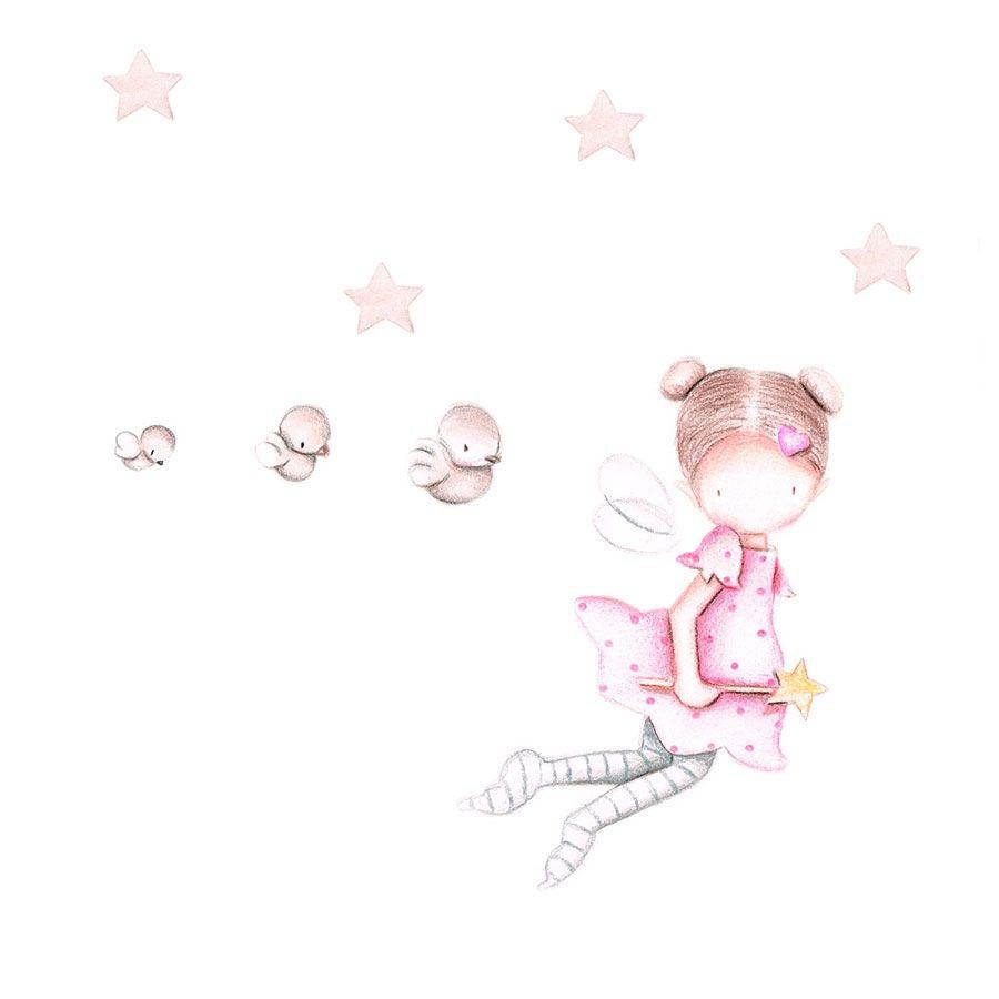 Vinilo Infantil Personalizado Hada Volando Hadas