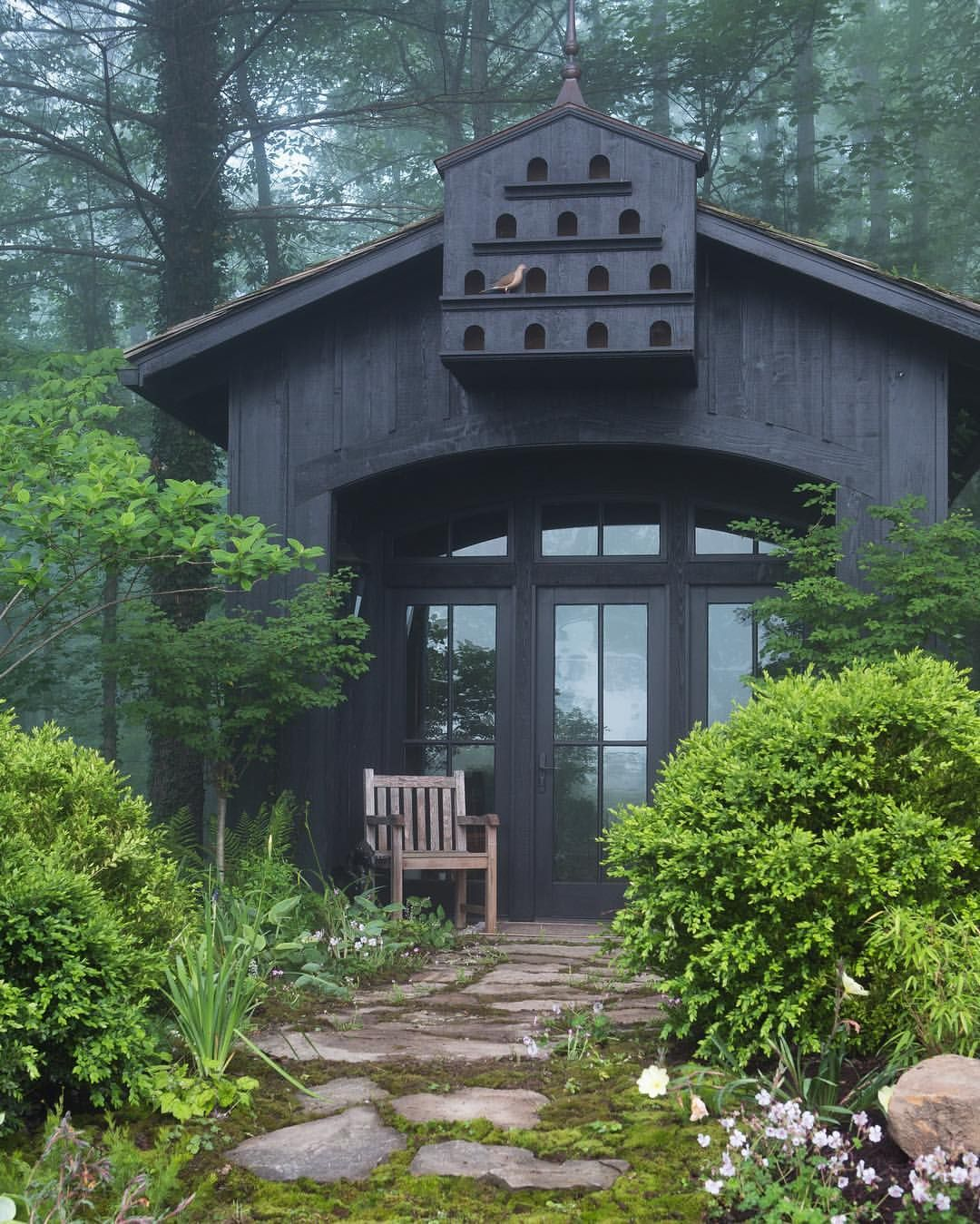 Garden shelter ideas home  Another shot from heatherannethomas of our mountain side project in