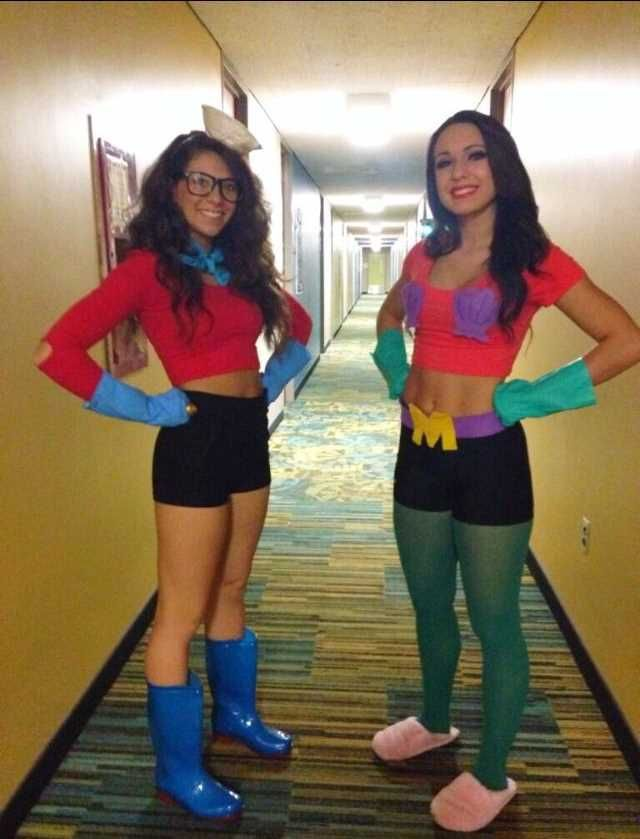 Barnacle boy and mermaid man Halloween costumes! halloween - creative college halloween costume ideas