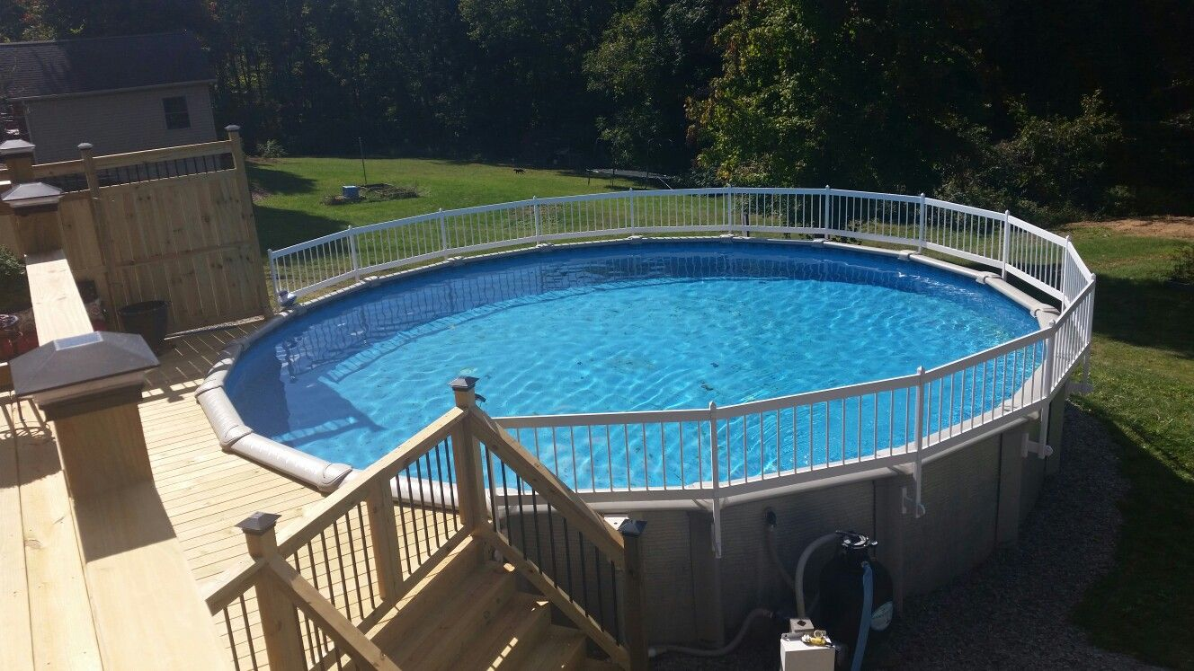 Fully Enclosed Above Ground Pool By Jeff Waters Construction Newark Ohio In Ground Pools Pool Above Ground Pool Decks