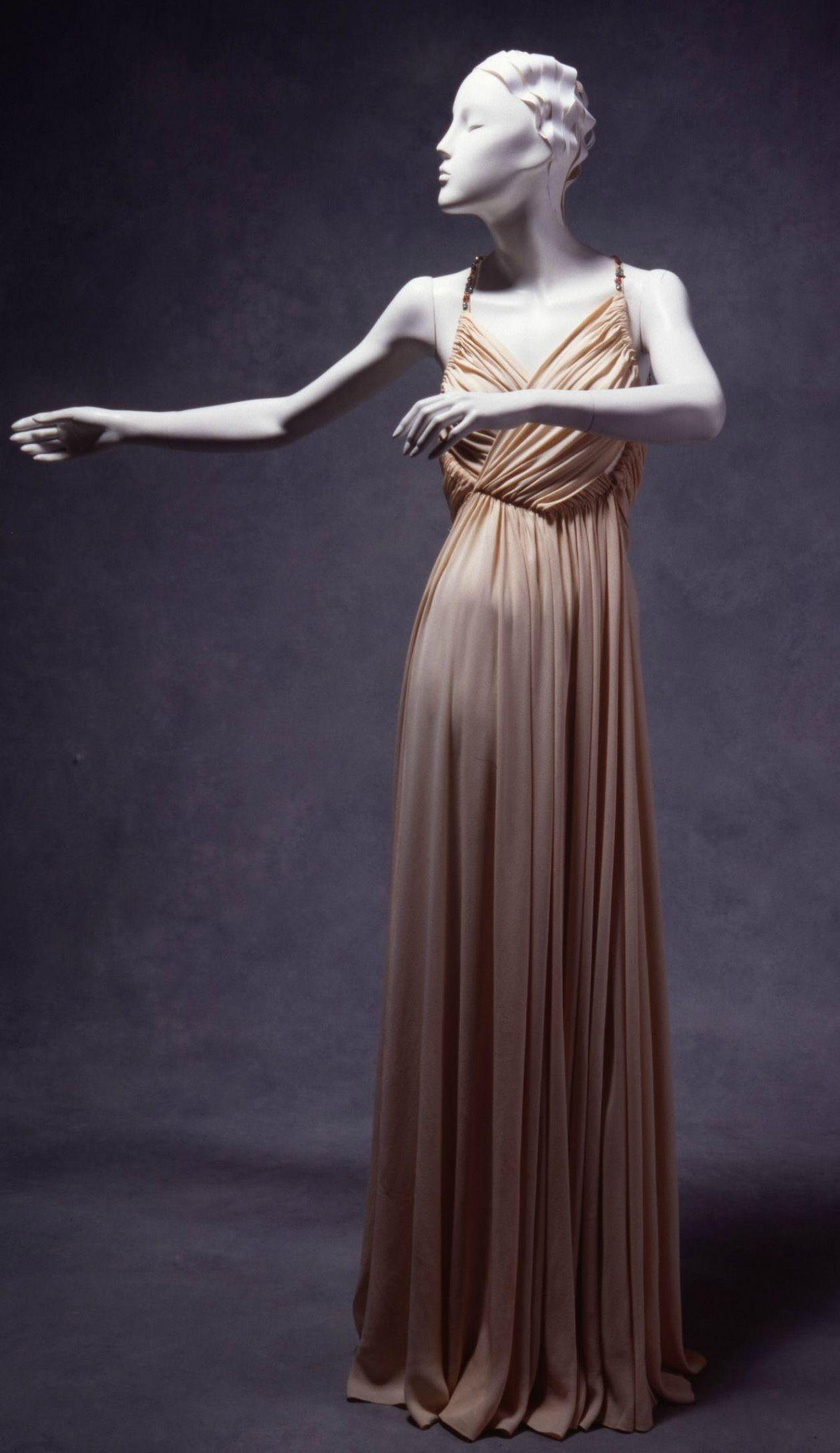 Evening Dress, Madeleine Vionnet (Paris, France): ca. 1930, silk ...