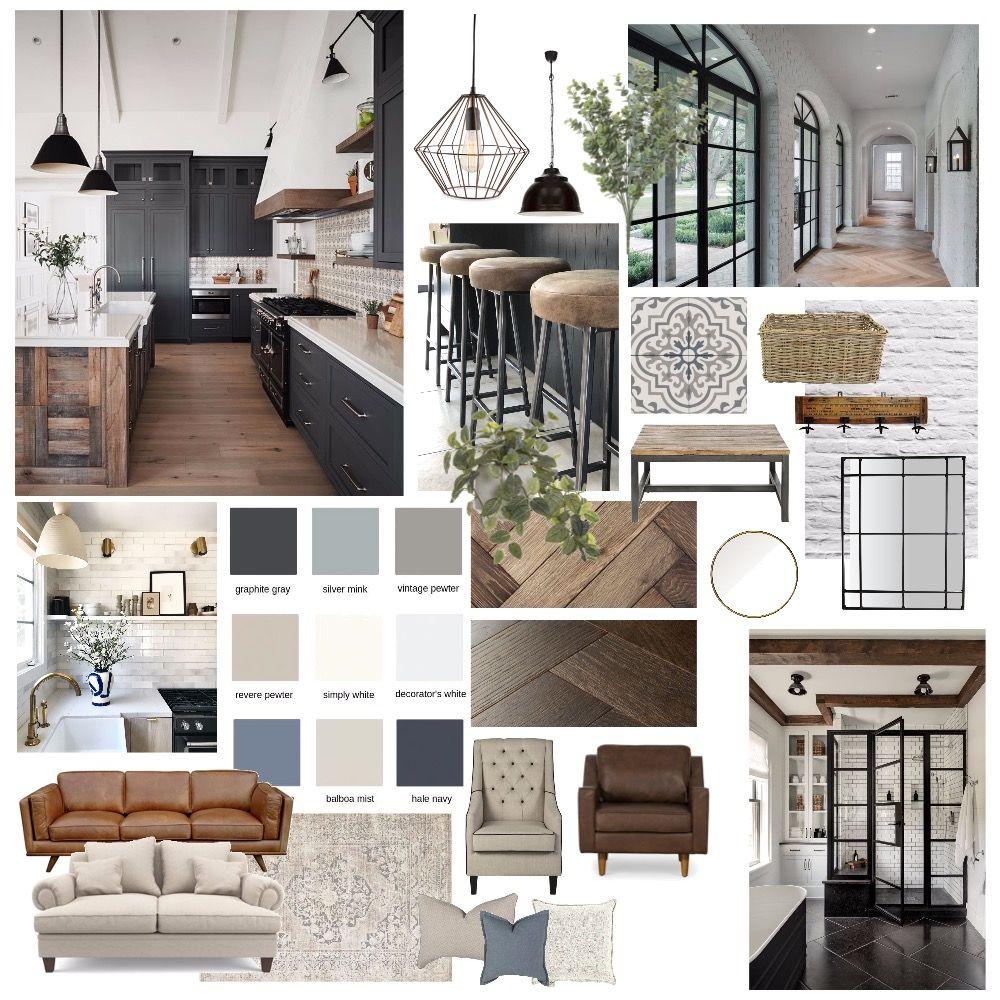Modern farmhouse Interior Design Mood Board by Rac