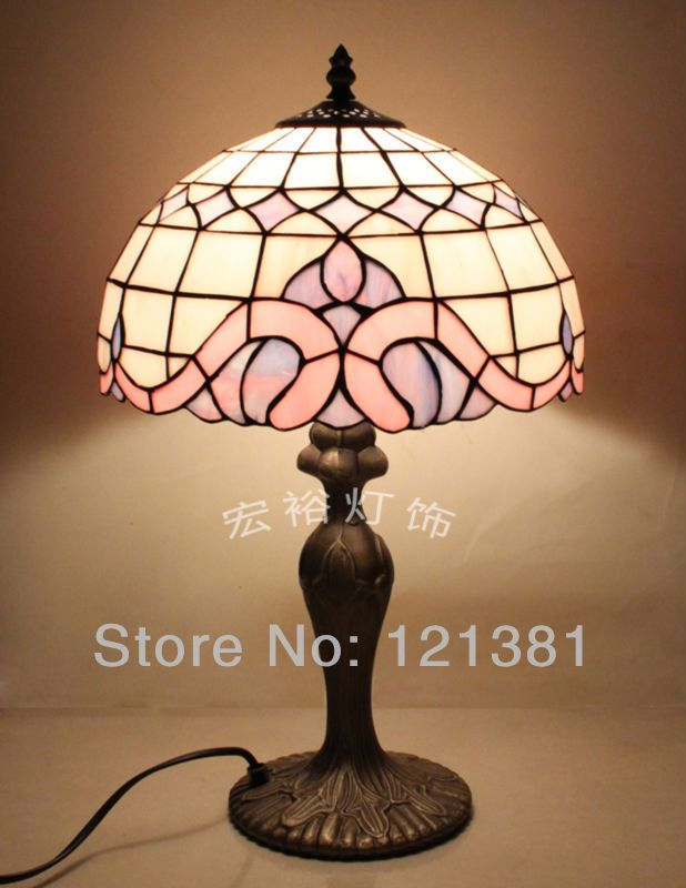 Tiffany Style Baroquetable Lamp Stained Gl Beside Residential Lighting 30cm Soldr With Copper Foil