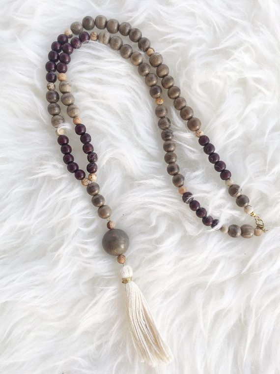 No Way Rosé - Beaded tassel necklace, free shipping.