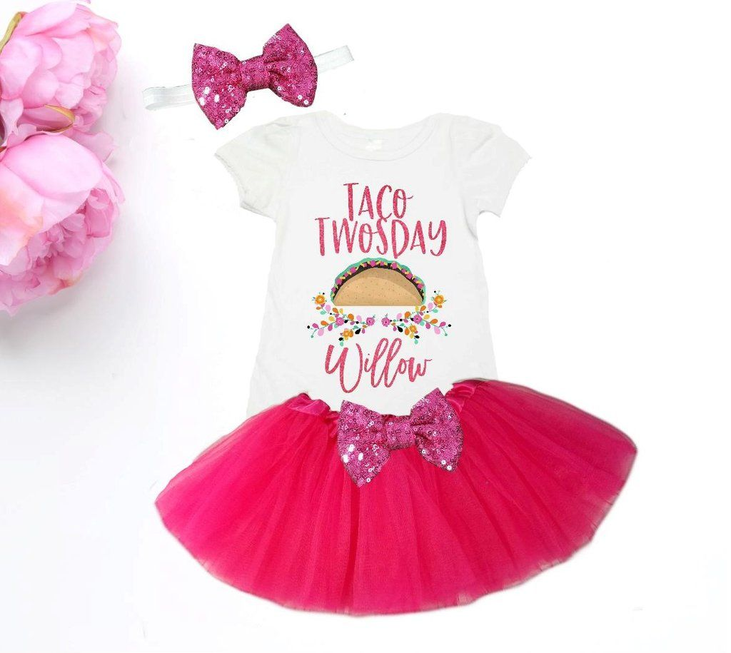 Minnie Mouse **With NAME** 3rd third 3 Baby Fuchsia Tutu Dress Fast Shipping
