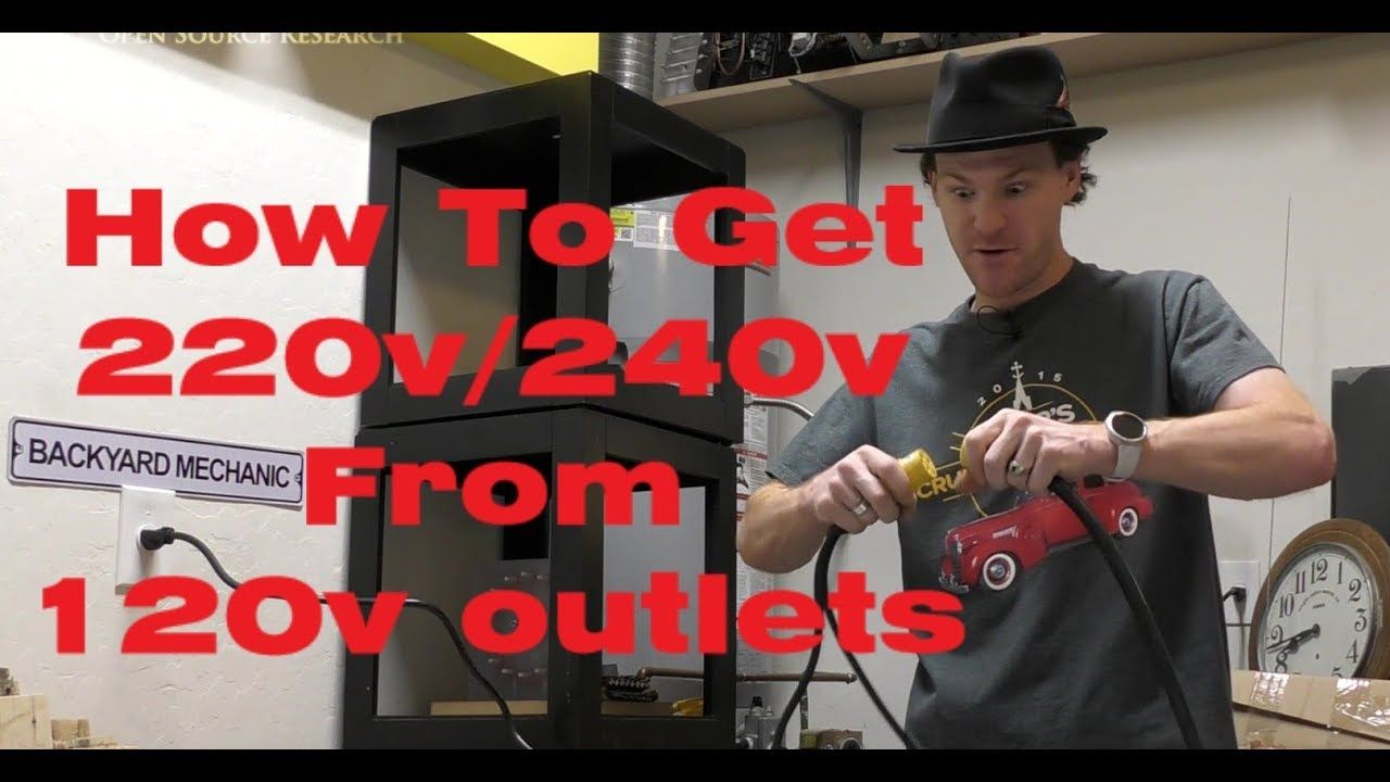 How To Get 220V/240V From Two 120V Outlets. No Electrical ...