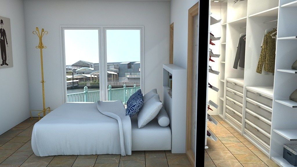 vestidor tras pared de cabezal de cama con entrada por puertas laterales vestidores pinterest vestidor panel y dormitorio