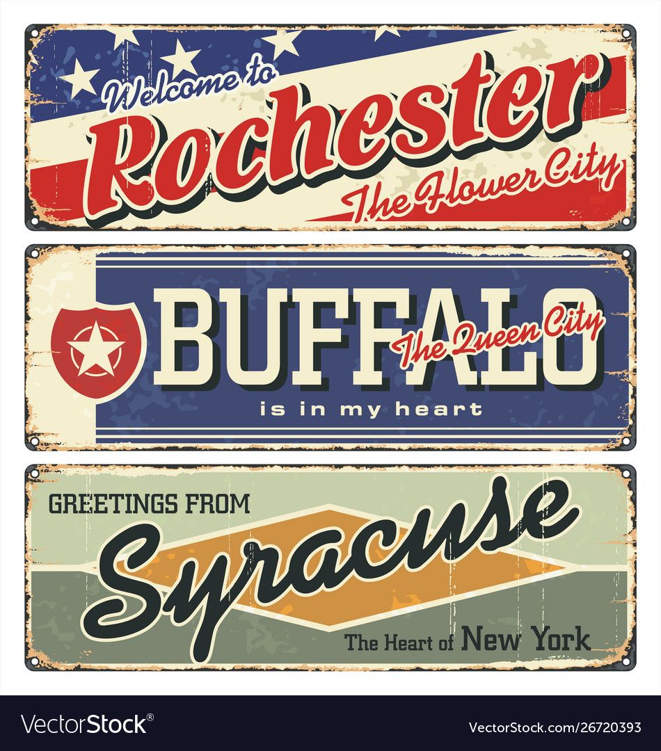 Rochester buffalosyracuse new york state Vector Image ,