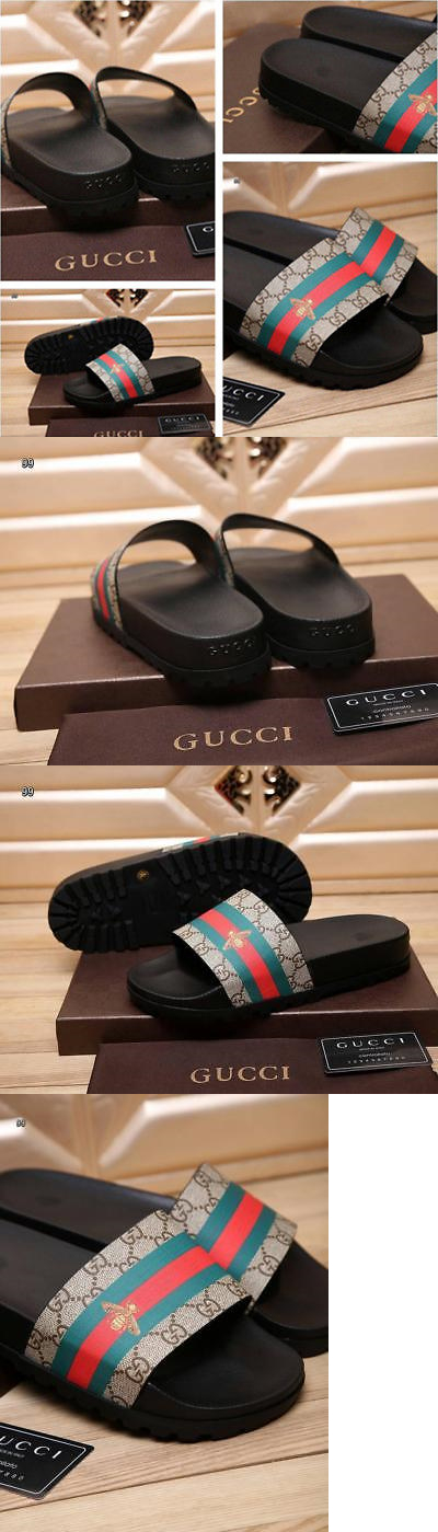 Sandals And Flip Flops 11504 New Gucci Gg Supreme Bee Striped Slide Men S Size Us 11 It Now Only 126 On