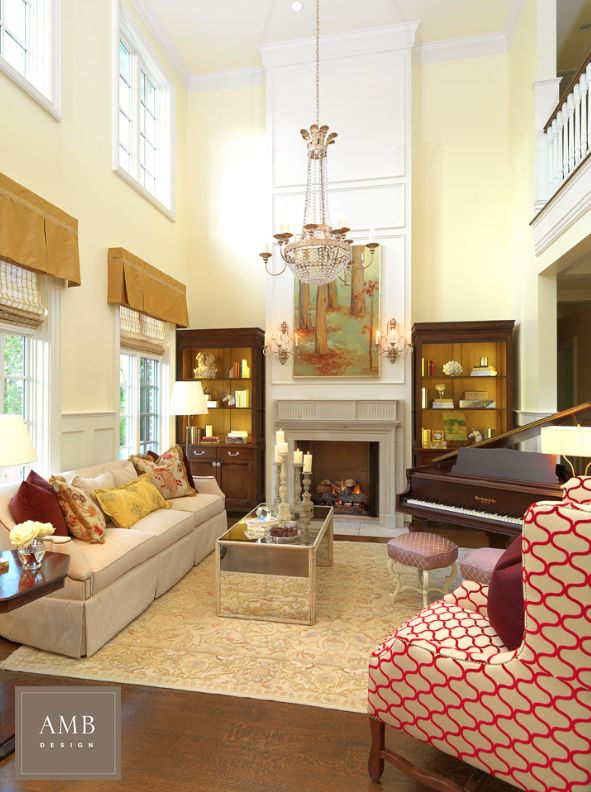 Classic Great Room Design By Anne Marie Barton Ambdesign