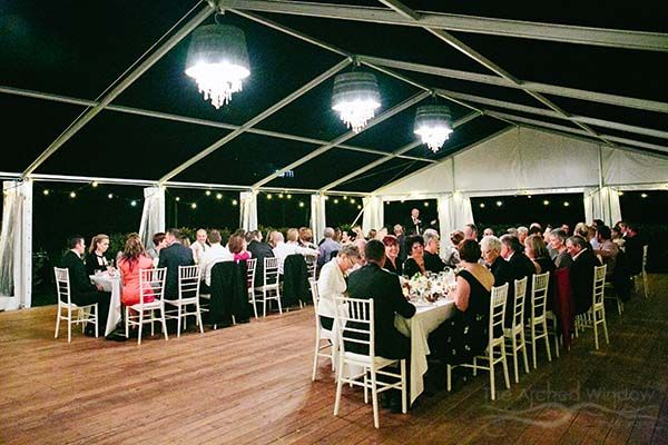 Open Air Marquee Wedding With Barrel Chandeliers Photography By Mt Tamborine Photographers The Arched Window