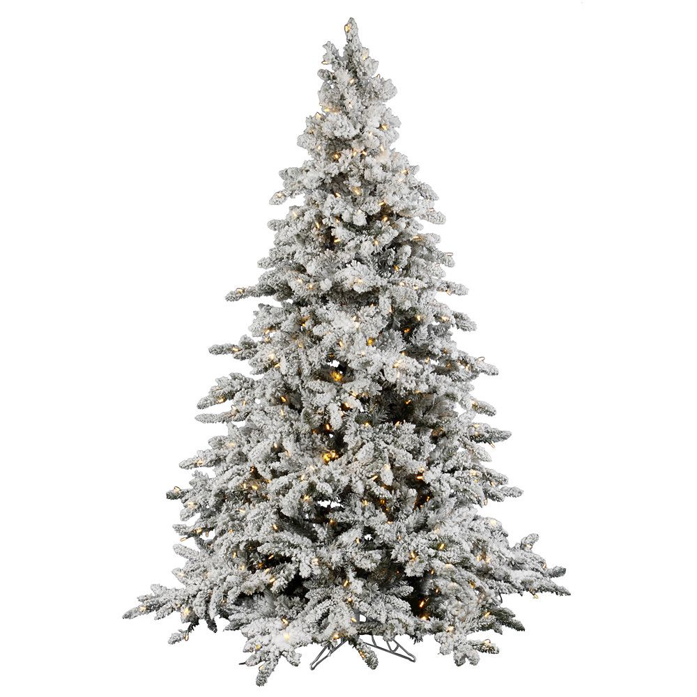 11++ Flocked christmas tree with white and colored lights ideas