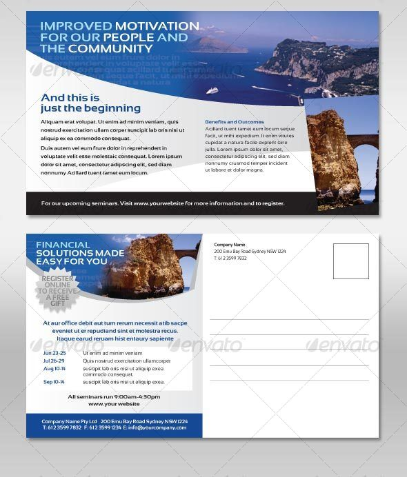 Postcard Corporate Style Flyer Corporate Style Flyer Template And - Postcard flyer template