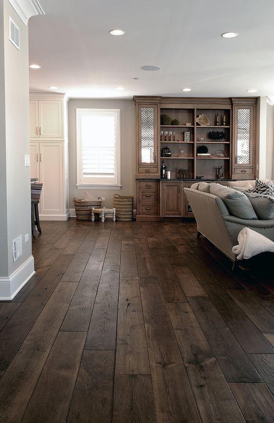 Wide Plank Hardwood Floor Dark Wood Floor Dark Grey Wood Floor