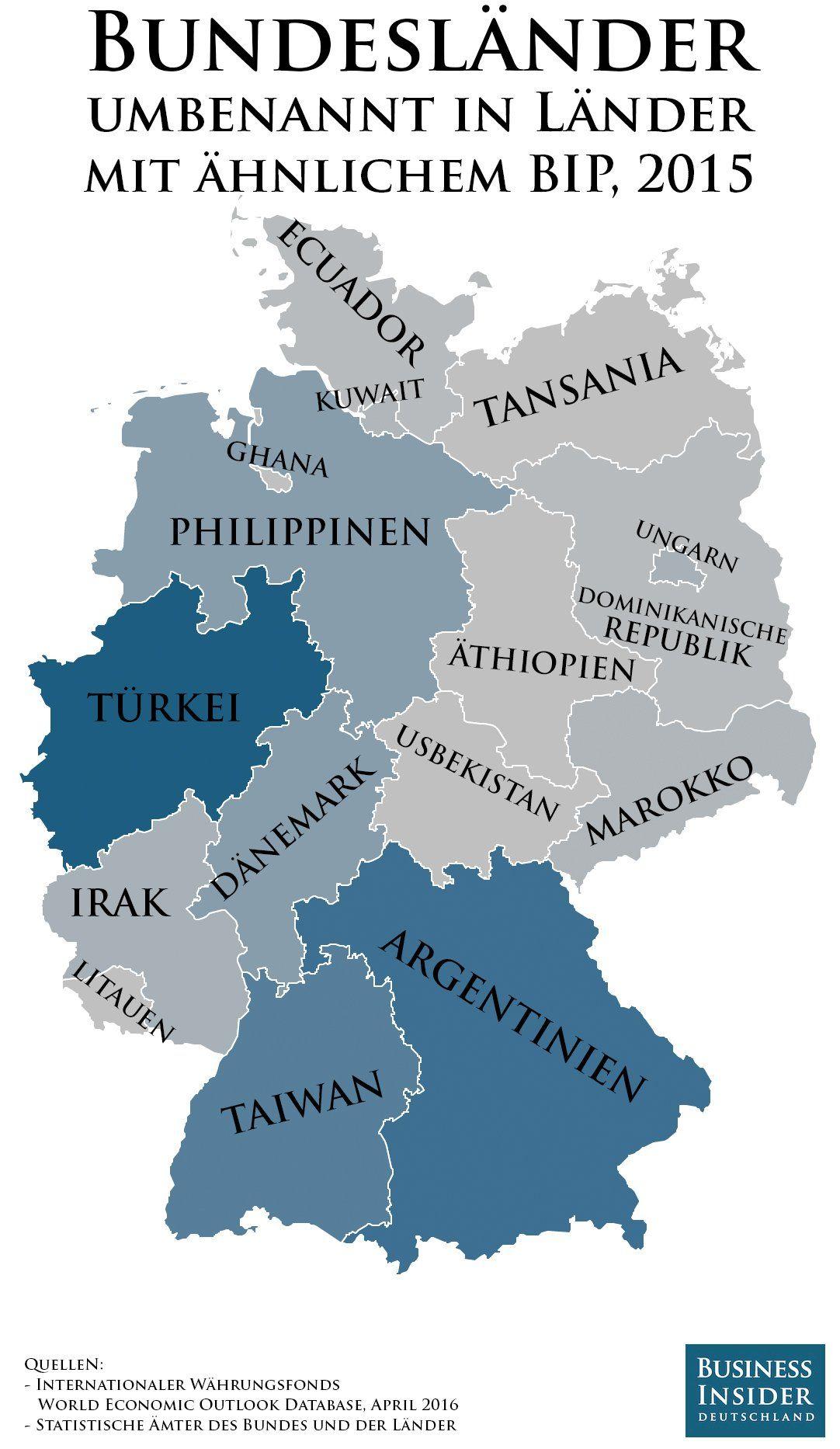 Bundesland Bremen Karte.Bayern Wie Argentinien Bremen Wie Ghana Karte Zeigt Wie
