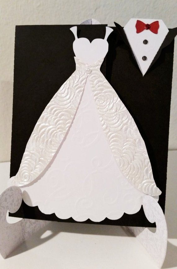Wedding Invitation, Tuxedo and Gown Invitation, Bridal Shower ...