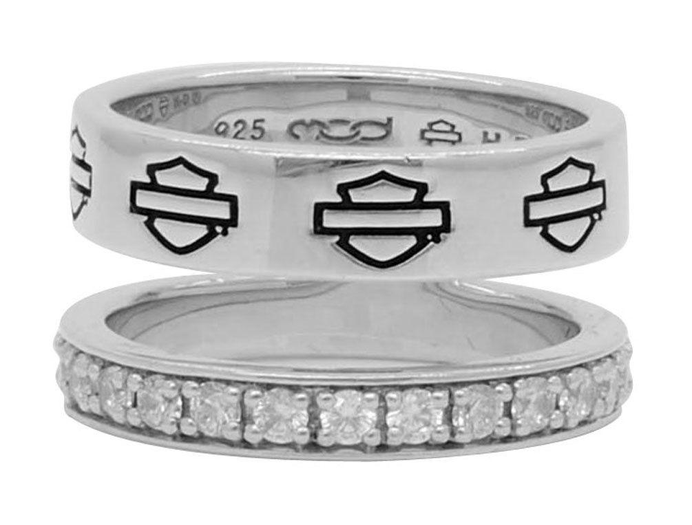 HarleyDavidson® Women's Double Band Bling Split Ring