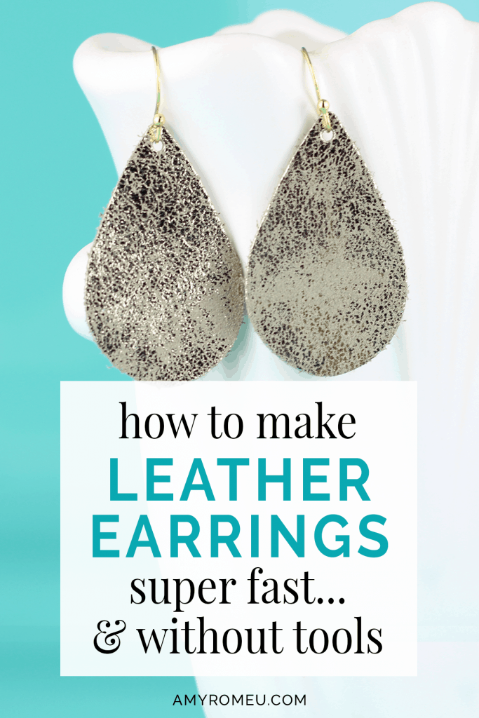 Diy Leather Earrings Without Tools How To Make Leather Leather Earrings Diy Leather Earrings