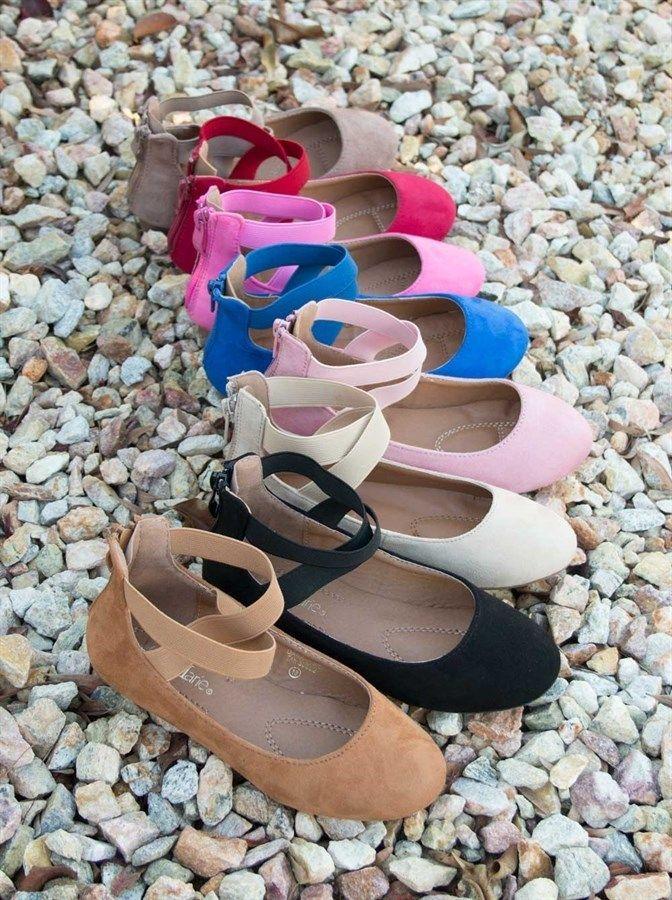 Kids Fashion Elastic Flats   9 Colors