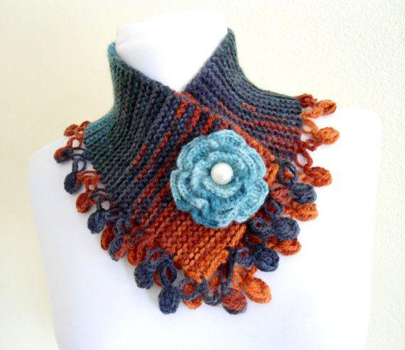 neckwarmers autumn wool handknittedfashiongift by likeknitting, $27.99