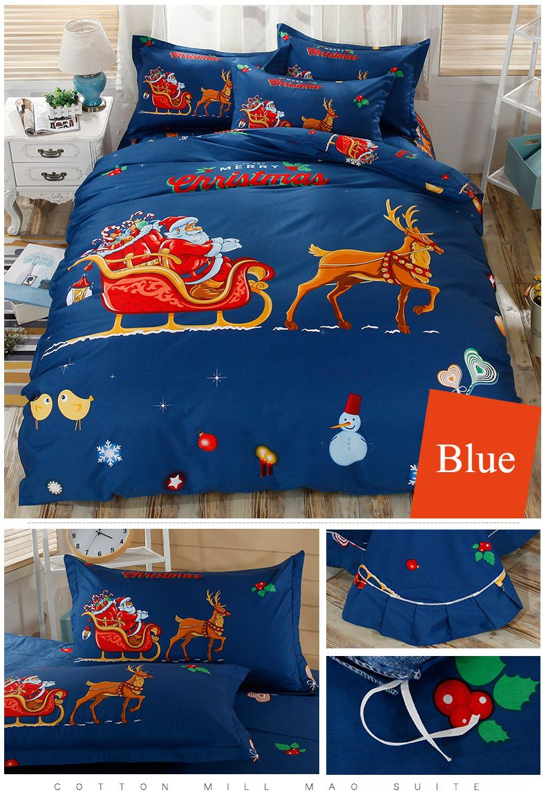 Cartoon Christmas Bedding Set for Kids Children | Christmas Bedding ...