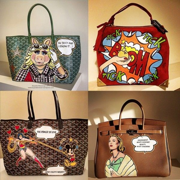 e96de8c54 It-bags customizadas!   Work   Painting leather, Painted bags, Bags