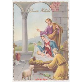 Immagini Di Natale Con Sacra Famiglia.Cartolina Religiosa Vintage Auguri Di Natale Nativita Sacra