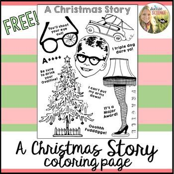 A Christmas Story Coloring Page A Christmas Story Is One Of My Favorite Christma In 2020 Christmas Story Movie Party Christmas Story Movie Christmas Story Party Ideas