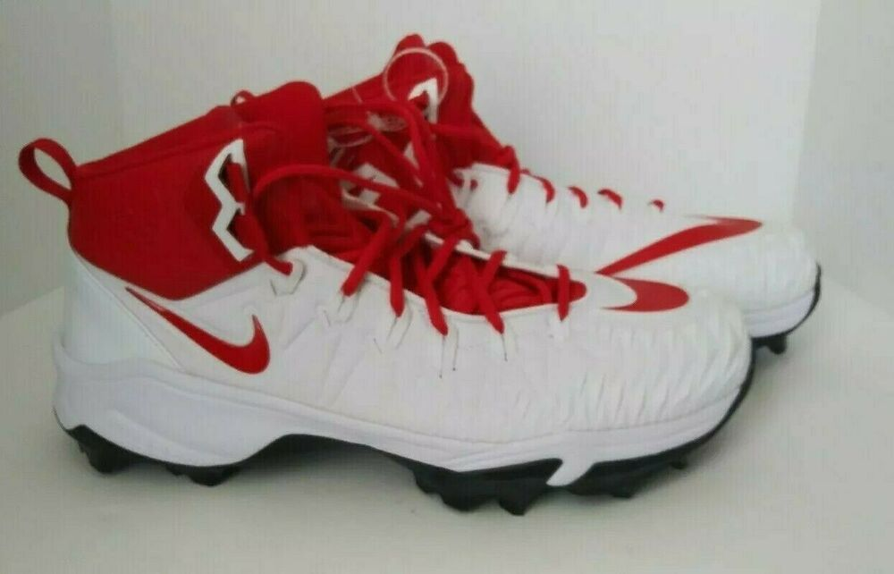 Nike force savage mens cleats size 145 football white