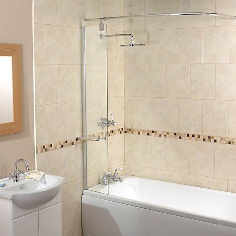 Buy Aqualux Splash Guard Shower Screen With Rail Online At Johnlewis.com