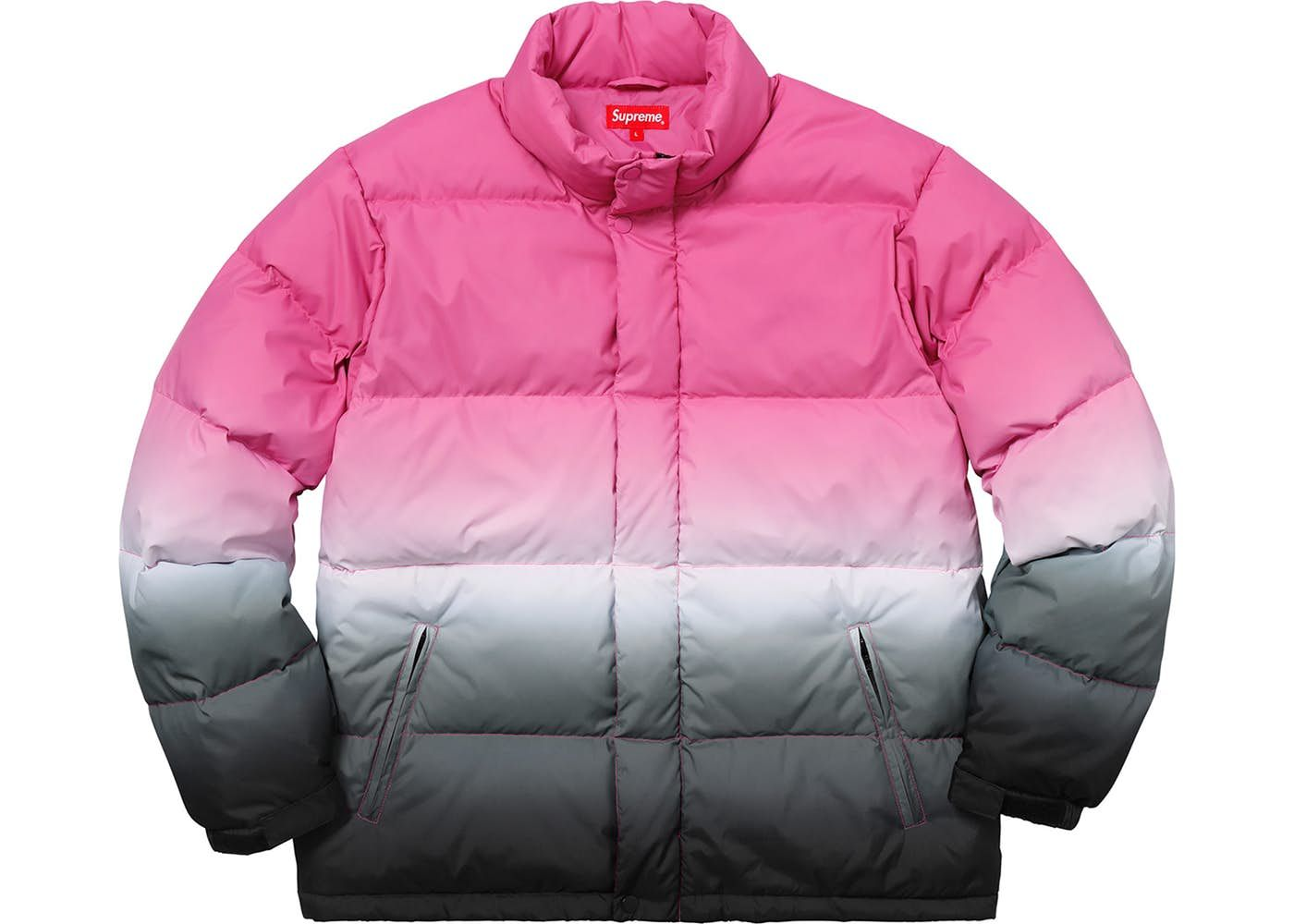 244bf013 Supreme Gradient Puffy Jacket Pink in 2019 | Style>Coats | Puffy ...