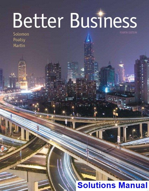 Better business 4th edition solomon solutions manual test bank better business 4th edition solomon solutions manual test bank solutions manual exam bank fandeluxe Images