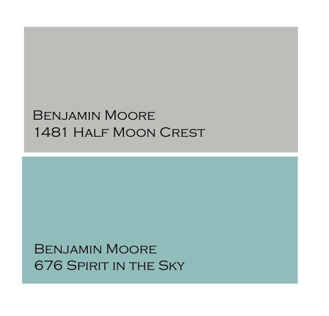 Orange, Turquoise And Gray Master Suite