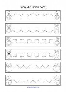 nachfahr bungen zu ostern schulausgangsschrift arbeitsbl tter kindergarten vorschule und. Black Bedroom Furniture Sets. Home Design Ideas