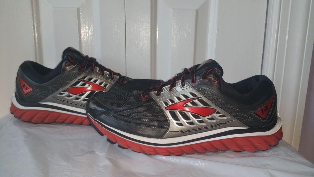 ebec3314811 Brooks Glycerin 14 Mens Running Shoes 1102362E082 W2E Size 11 Black  Red