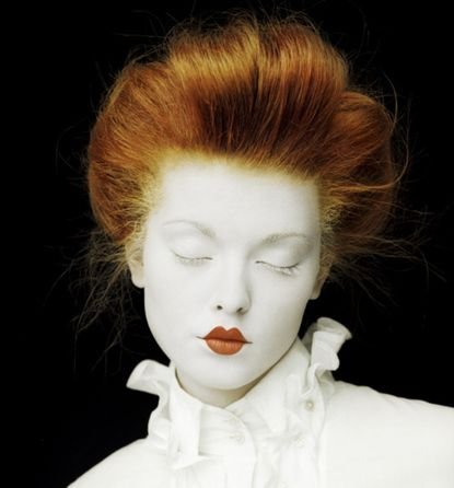 Victorian Red Haired Doll Great Pale Halloween Make Up Costume
