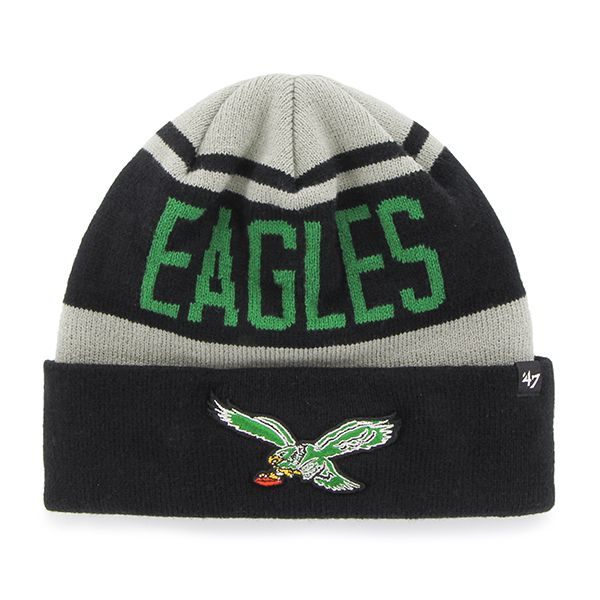Philadelphia Eagles Rift Cuff Knit Gray 47 Brand Hat  eb0f002ba