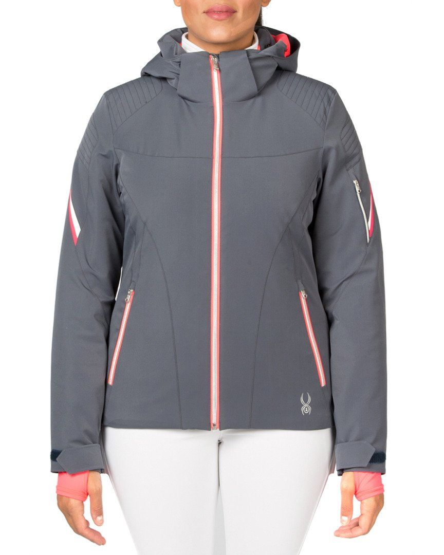 4d3037cbc Spyder Women's Project Jacket, Depth/Bryte Pink/White, 12. Silver coil