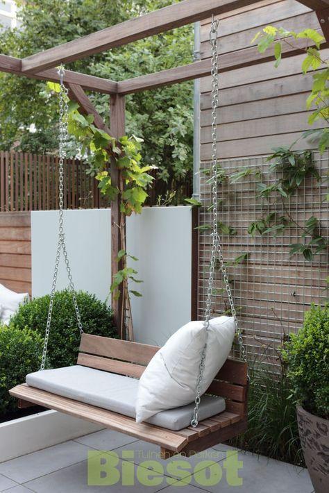 Photo of #schommelbank ook in kleine tuin