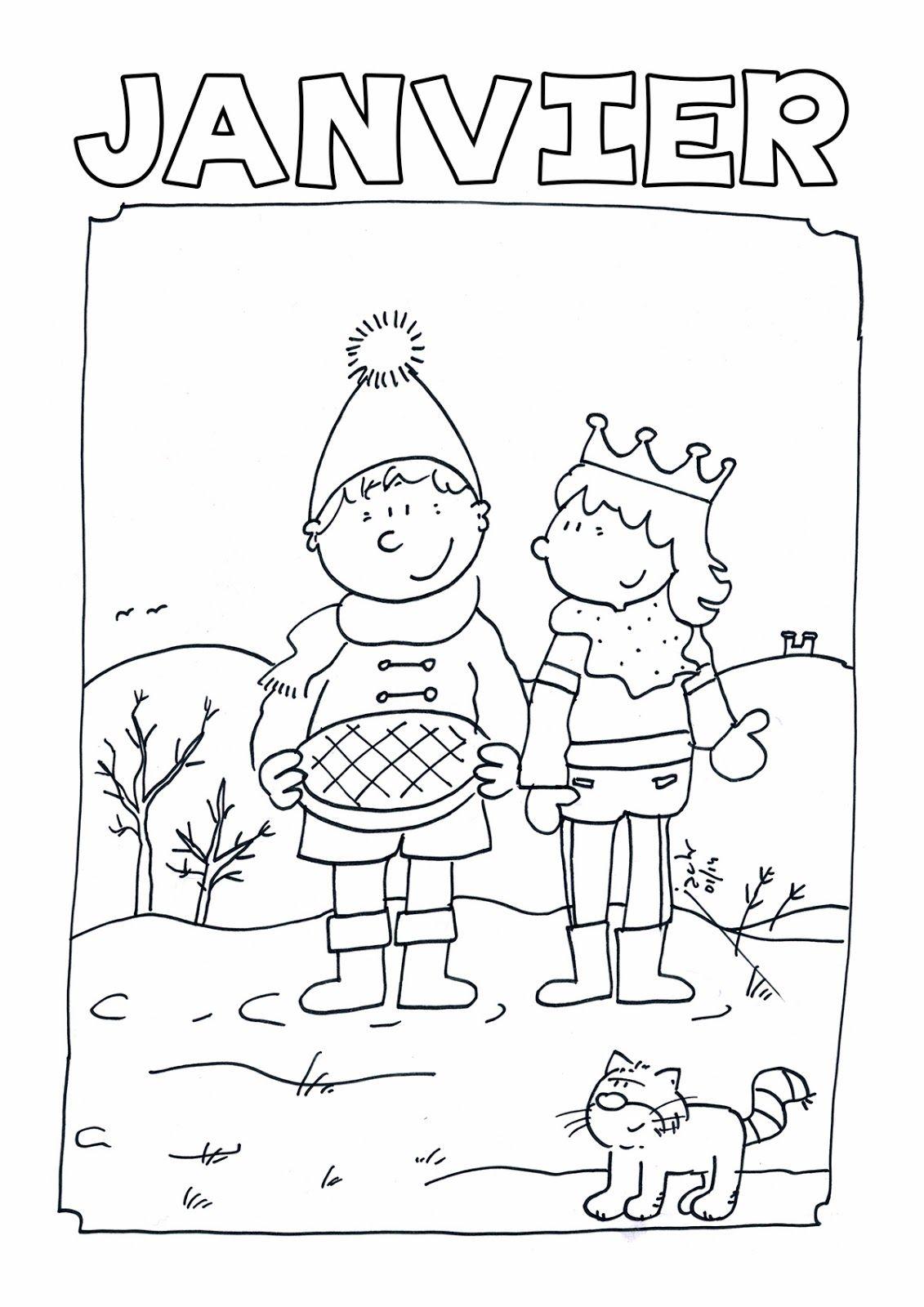 Coloriage janvier coloriage enfant pinterest - Coloriage enfant maternelle ...