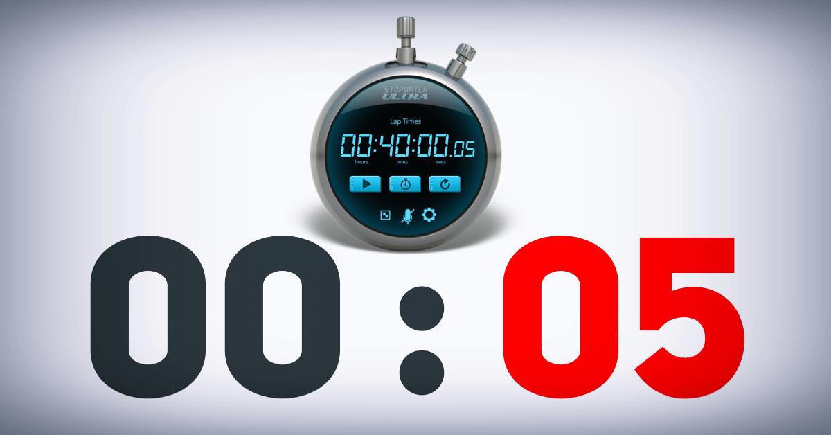 موقع لعمل عد تنازلي مؤقت أون لاين مع تنبيه للتذكير Stopwatch Online 40th