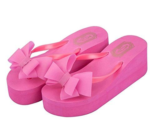 69acbc168bb perfect Maybest Girls Ladies Shoes Sweet Bow Sandals Thick Heel Shape  Sandals Thongs Slippers Leisure Beach Shoes