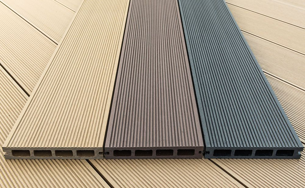 Outside Plastic Wood Hollow Decking Price Budget Deck Building