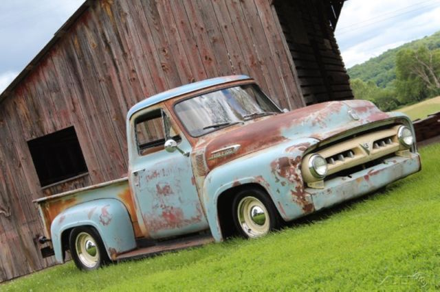 1953 Ford F100 Restomod Rat Rod 350ci V8 Auto Ps Pdb Patina