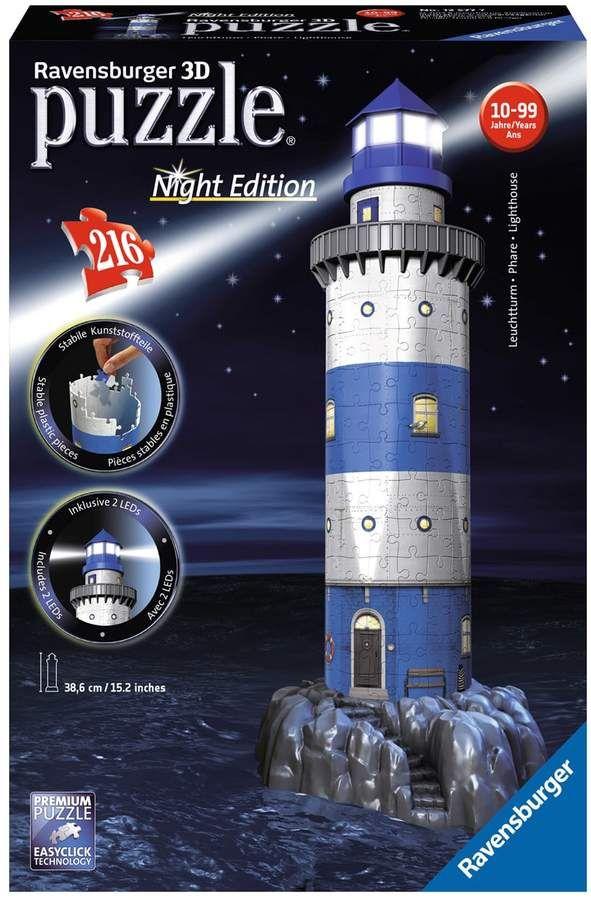 Puzzles & Geduldspiele Ravensburger 3D Puzzle Night Edition Leuchturm