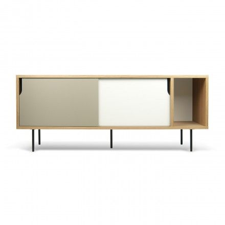 decovry.com - TemaHome | Dann Sideboard | Oak/White & Grey