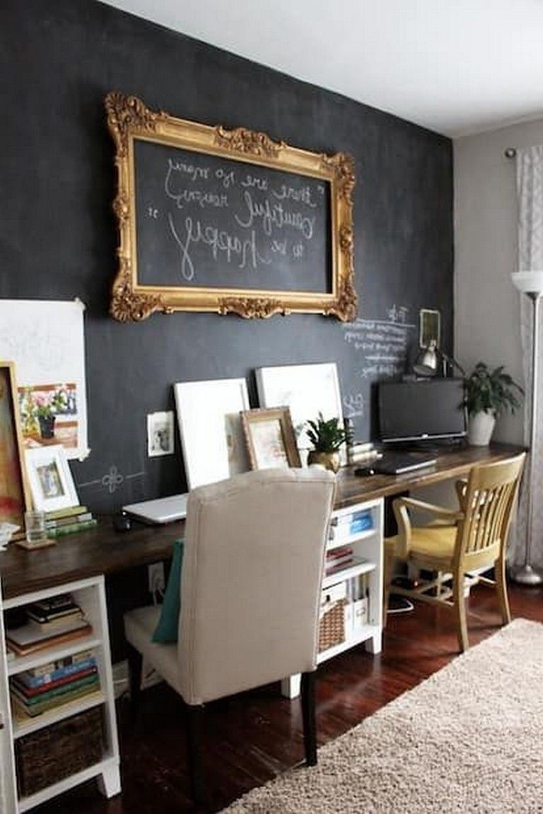 48 Elegant Office Decor Ideas For Small Apartment Shared